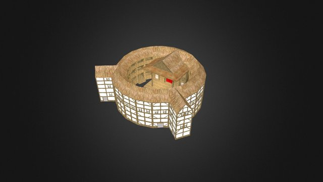 Globe Theatre Painted 3D Model