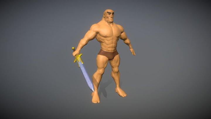 Sworded barbarian 3D Model