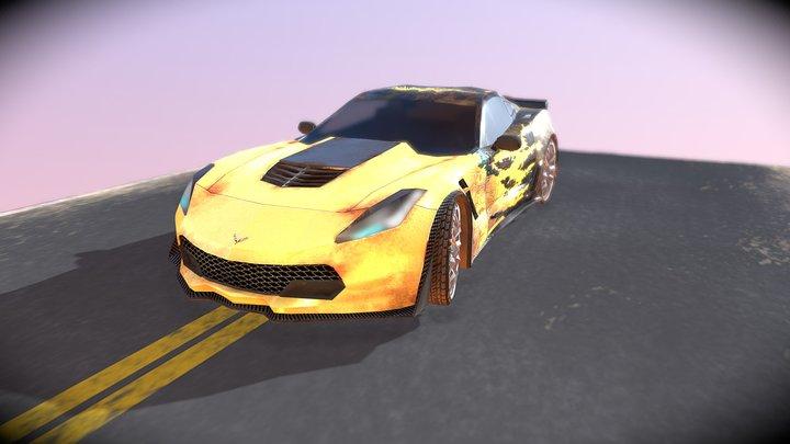 Low poly Chevrolet Corvette 3D Model