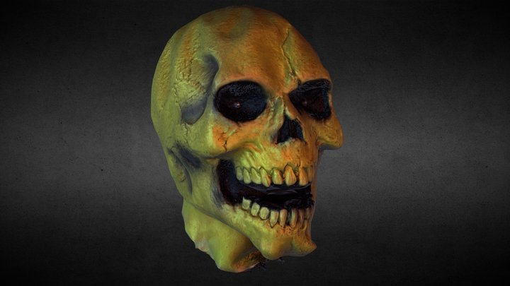 Zombie Prop Head - 3D Scan - Decimated 3D Model