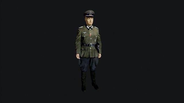 Wehrmacht officer - игры, видео 3D Model