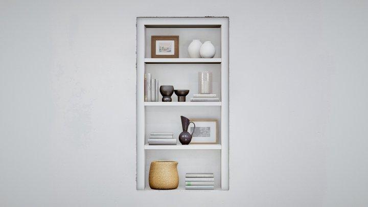 Scandinavian Shelf Decorative Set 3D Model