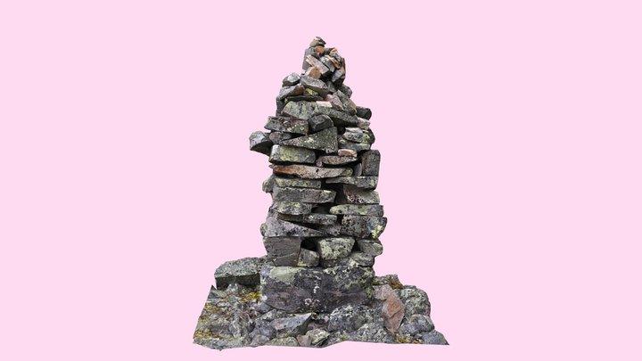 Sámi border cairn 3D Model