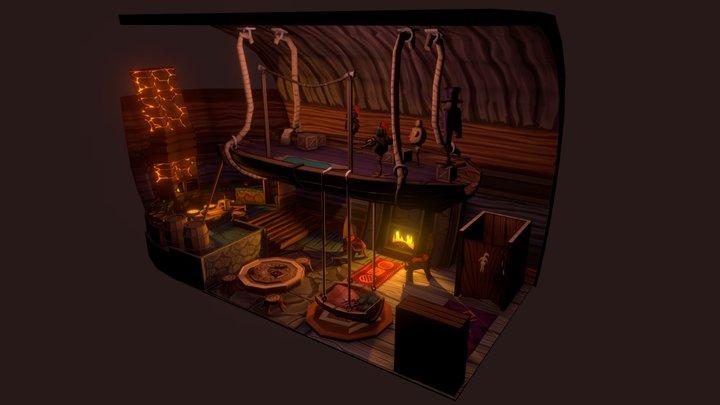 Nina's House Interior 3D Model
