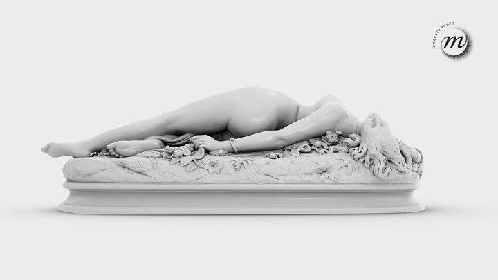 Femme piquée par un serpent - Clésinger 3D Model