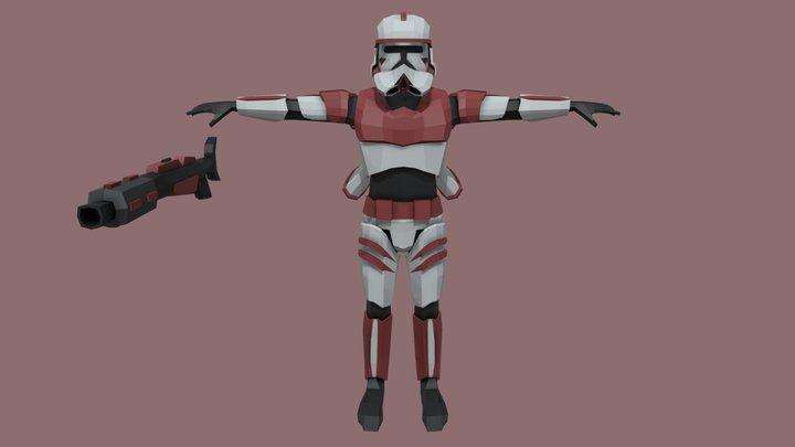Star Wars - Low Poly Skytrooper 3D Model