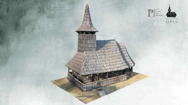 Biserica de lemn de la Porț (jud. Sălaj) 3D Model