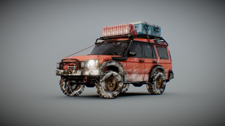 2004 Land Rover Discovery Off-Road 3D Model