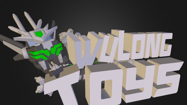 WuLongToys Logo 3D Model