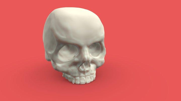 Learn Sculpt - Skull 1 3D Model