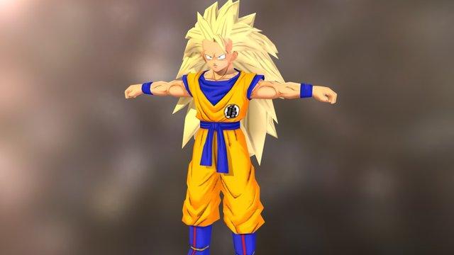 DragonBall Online Goku SSJ3 3D Model
