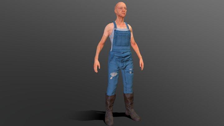 Old-Time Farmer Eddie 3D Model