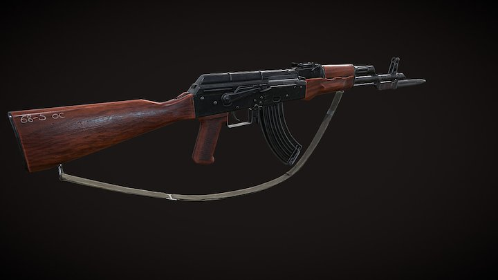AK-47(Disassembly of weapons) 3D Model