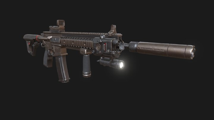 Fuzil Tático M4 3D Model