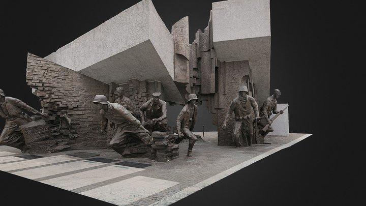 Warsaw Uprising Monument 3D Model