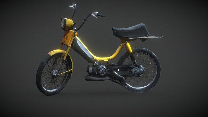 1979 PA-50 50 cc Honda Hobbit Moped 3D Model