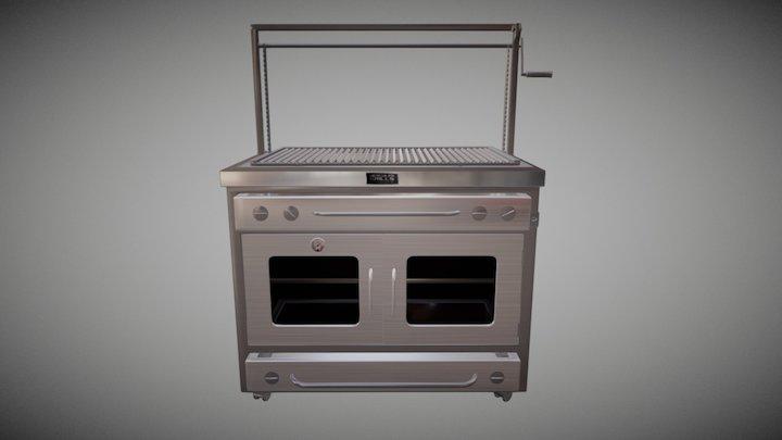 Gray Grill_2 3D Model