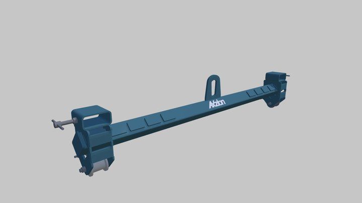 Axzion turnover cross-beam for forklift 3D Model