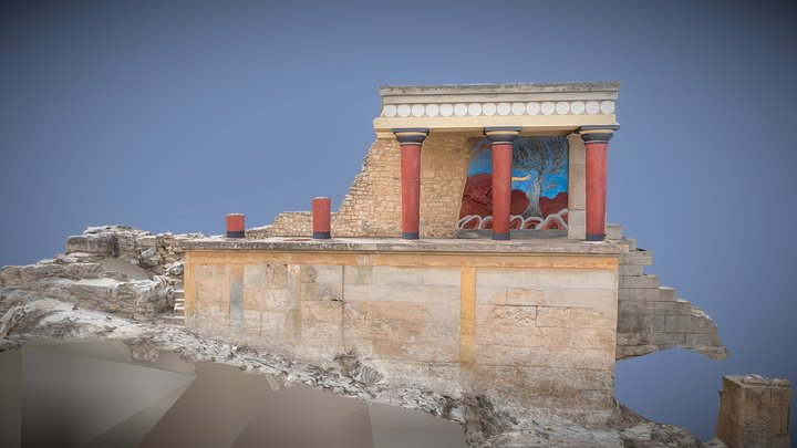 Knossos Palace Archeological Site 3D Model