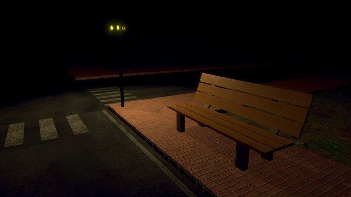 Horror Street Lamp 🎃 3D Model