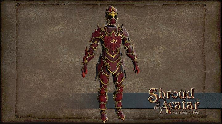 Summer Telethon Flame Armor 3D Model