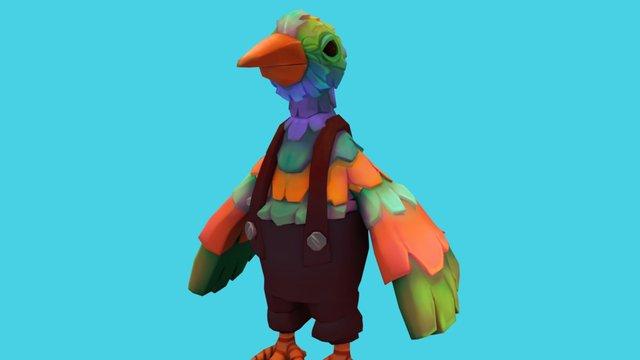 Bird farmer 3D Model