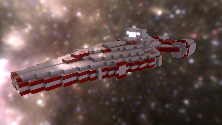 Star Wars - Arquitens-Class cruiser (voxel) 3D Model