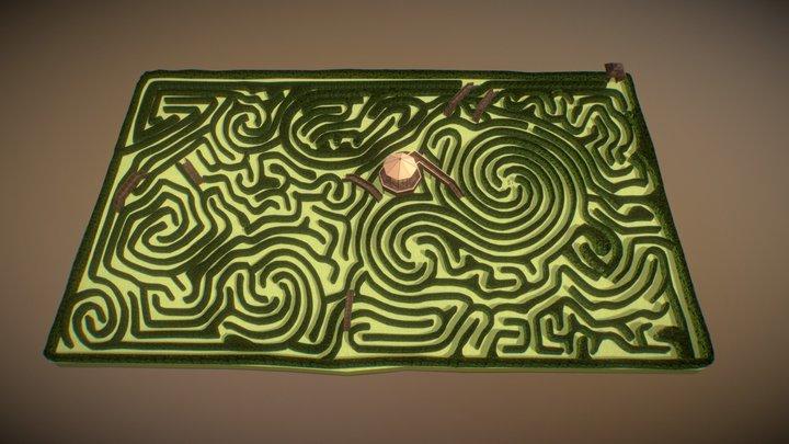 Longleat Hedge Maze 3D Model
