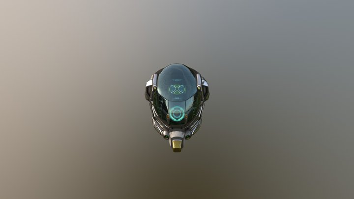 Damaged Helmet 3D Model