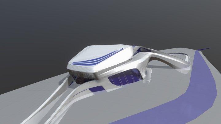 Recreation of Zaha Hadid's Grand Rabat Theatre 3D Model