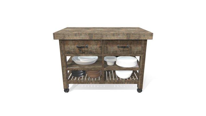 Kitchen Central Furniture 3D Model