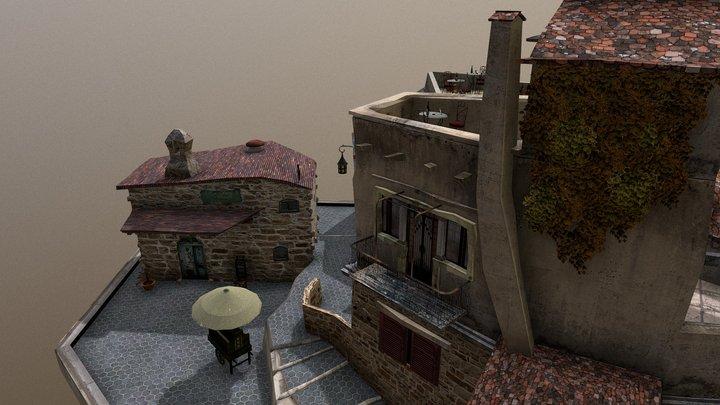 Saint-Paul-de-Vence Cityscene 3D Model
