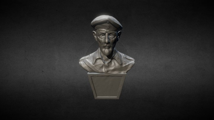 WW2 Soldier Statue 3D Model