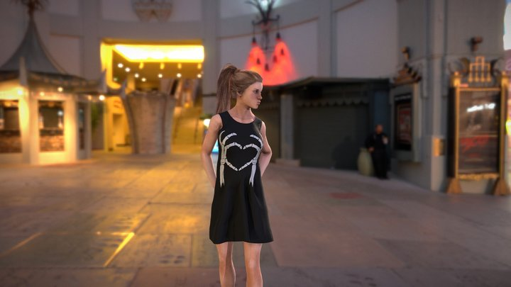Skeleton Heart Dress 3D Model