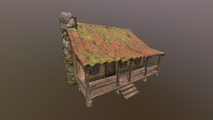 Old Cabin 3D Model