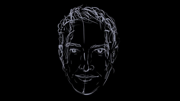 """Portrait #4 for """"The Masks I Wear"""" 3D Model"""