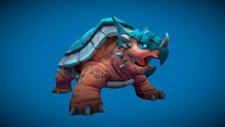 Stylized Fantasy Turtle 3D Model