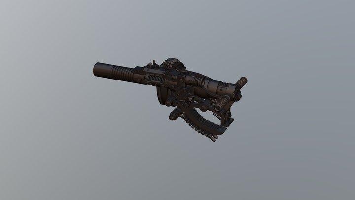 Balkan Grenades Launcher 3D Model