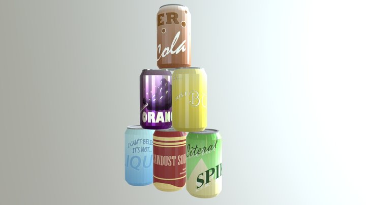 Low Poly Soda Pack 3D Model