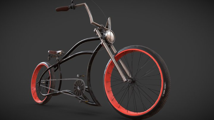 Bicycle / Frame-TSP Wave / High texture 3D Model