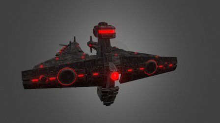 Cruiser Demiurg Bastion Class (Great size) 3D Model