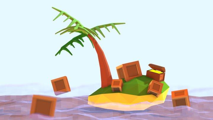 """""""Jomblo"""" Island 3D Model"""
