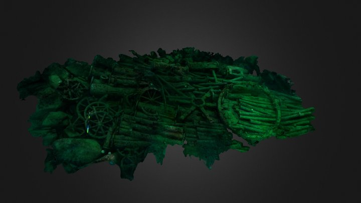 The Wheel Wreck 3D Model