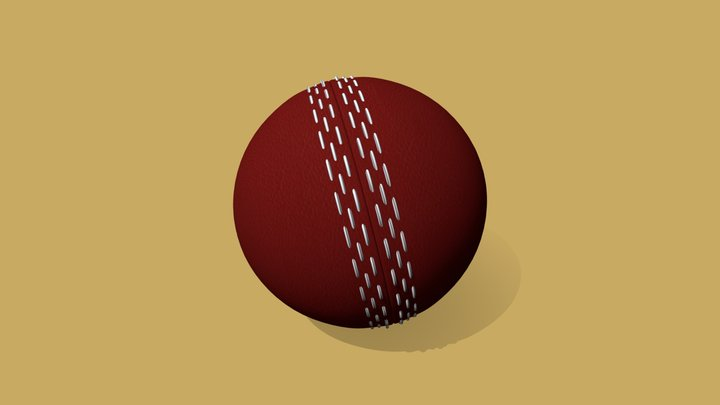 Leather Cricket Ball 3D 3D Model