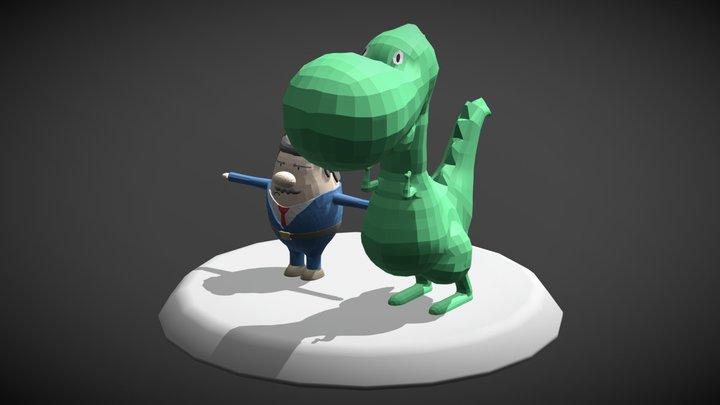 Boss & T-Rex 3D Model