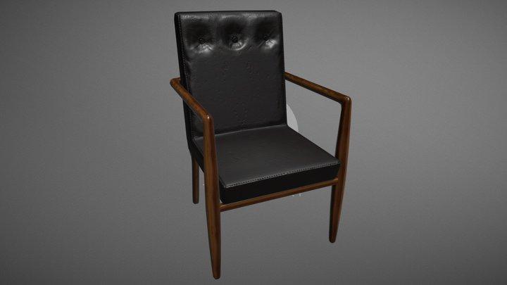 50's Office Chair 3D Model