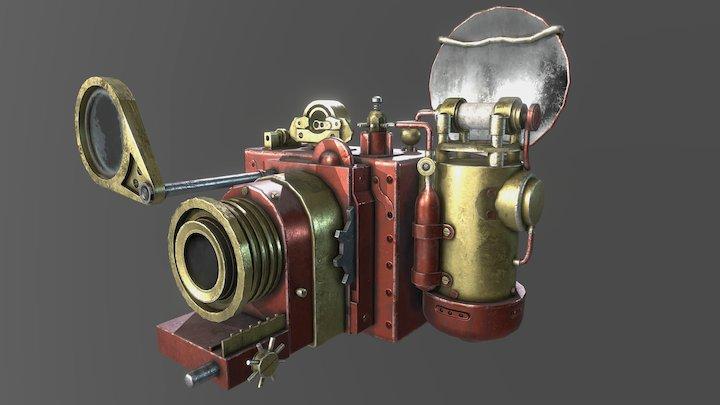 Steampunk Camera 3D Model