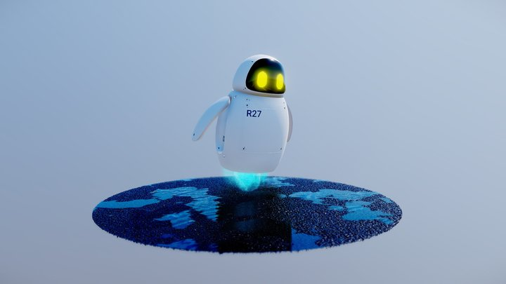 Friendly Bot 3D Model