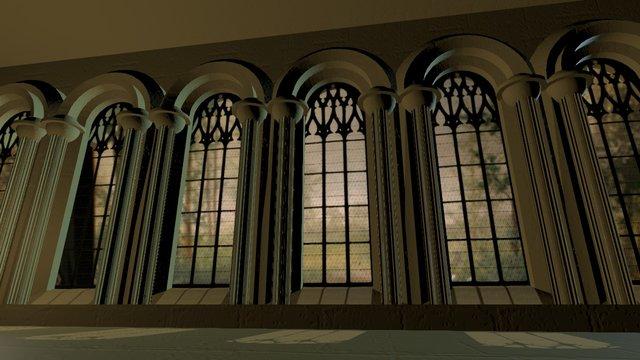 Arched Windows 3D Model