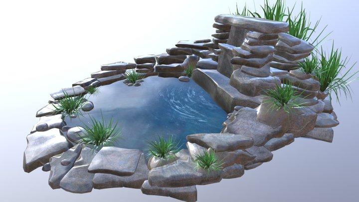 Rock Fountain 3D Model